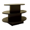3 Tier Oval Display Table - Black