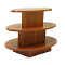 3 Tier Oval Display Table - Cherry