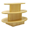 3 Tier Oval Display Table - Maple