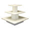 3 Tier Square Display Table - White-White