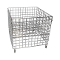 "36"" Square Wire Grid Dump Bin - Chrome"