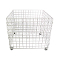 "36"" Square Wire Grid Dump Bin - White"