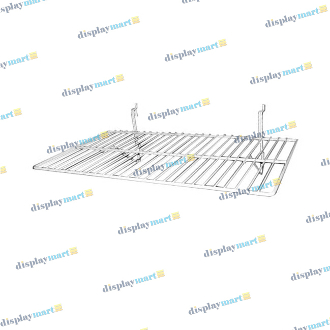 "12""D X 24""L Grid & Slat Wire Shelf - White"