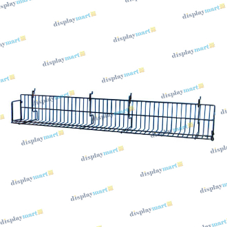 "6""D X 47 1/2""L Grid & Slat Video Shelf - Black"