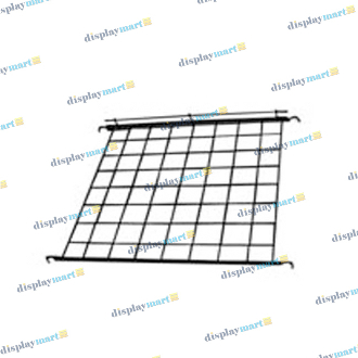 "24""D X 24""L Grid Wire Shelf - Black"