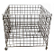 "36"" Square Wire Grid Dump Bin - Black"