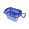 Plastic Shopping Basket With Wheels - Blue