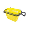 Plastic Shopping Basket With Wheels - Yellow