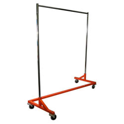 Single Bar Clothing Racks